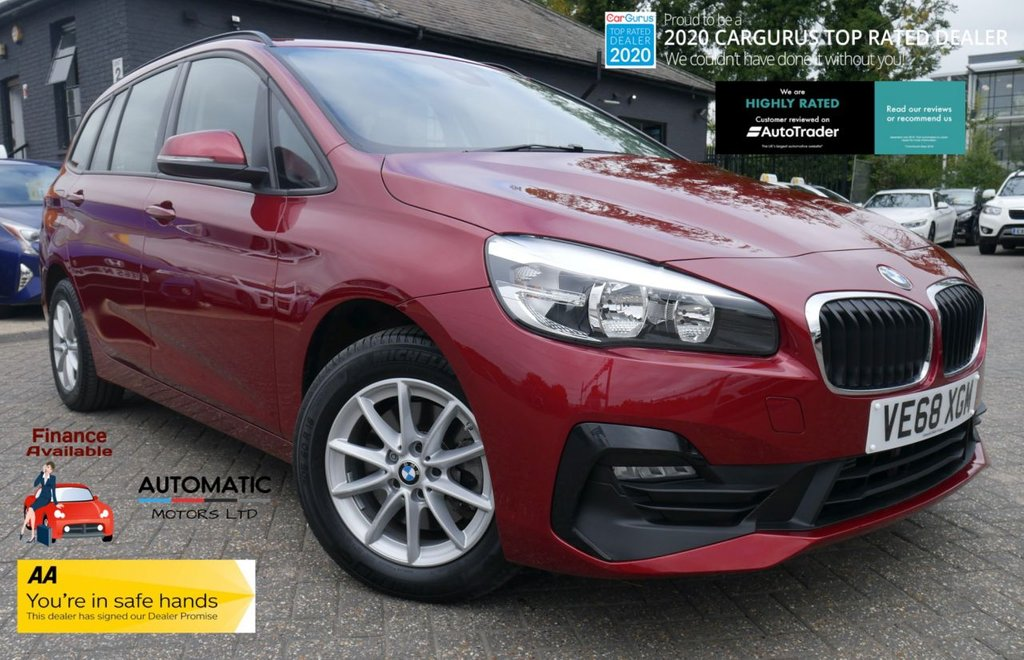 USED 2018 68 BMW 2 SERIES 1.5 218I SE GRAN TOURER 5d 139 BHP 2018 BMW 2 SERIES 1.5 218I SE GRAN TOURER ,EURO 6,  1 OWNER, NAVIGATION, BLUETOOTH.