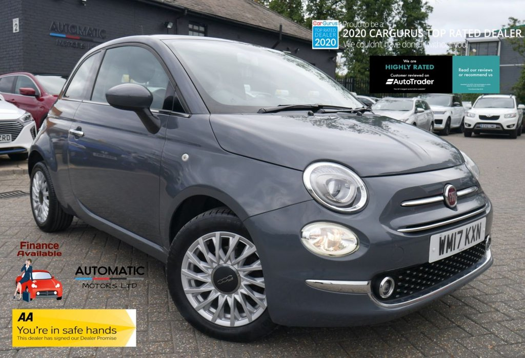 USED 2017 17 FIAT 500 1.2 LOUNGE 3d 69 BHP 2017 FIAT 500 1.2 LOUNGE 2 KEYS 1 OWNER ULEZ BLUETOOTH, CRUISE CONTROL