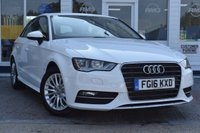 USED 2016 16 AUDI A3 1.6 TDI ULTRA SE TECHNIK 5d 109 BHP AVAILABLE FOR ONLY £180 PER MONTH WITH £0 DEPOSIT