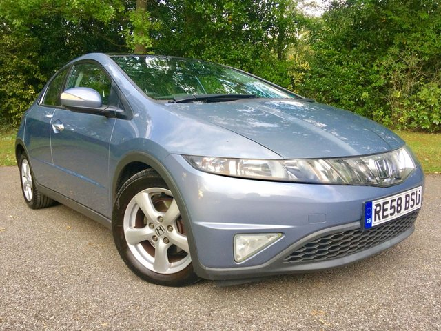 2008 58 HONDA CIVIC 1.8 I-VTEC ES I-SHIFT 5d AUTO 139 BHP ONLY 2 RETIRED OWNERS WITH FULL HONDA SERVICE HISTORY X10HONDA STAMPS