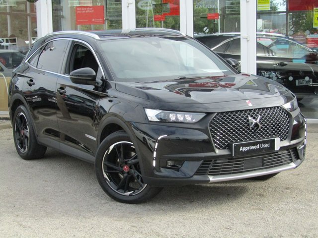 "USED 2019 19 DS DS 7 CROSSBACK 1.6 PURETECH PERFORMANCE LINE S/S EAT8 5d 222 BHP Finished in Perla Nera Black with Black Trim. This Performance Line is one of the sportiest-looking models in the Crossback range. Comes with great tech as standard which includes large 12-inch touchscreen and 12.3-inch digital drivers virtual display instead of conventional analogue dials. The suede-like Alcantara trim on the dashboard and doors give it that extra posh feel. Other features include Sat Nav, DAB, 19"" Alloys,and much more. Just serviced and comes with balance of DS Warranty."