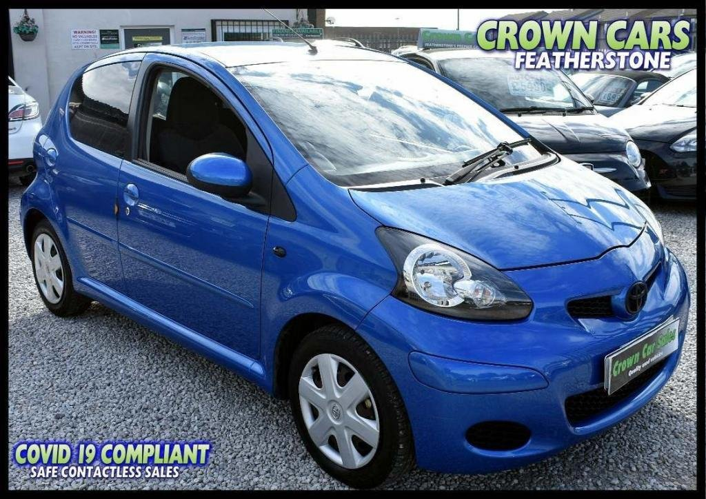 USED 2010 10 TOYOTA AYGO 1.0 VVT-i Blue Blue 5dr AMAZING LOW RATE FINANCE DEALS