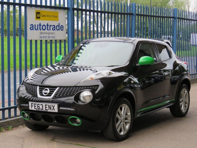 USED 2013 63 NISSAN JUKE 1.6 ACENTA PREMIUM 5d 117 Sat nav Privacy Bluetooth Climate Alloys Cruise SAT NAV, REAR PARKING CAMERA, CLIMATE CONTGROL AIR CON, ALLOY WHEELS, PRIVACY GLASS, REAR SPOILER, ULEZ COMPLIANT
