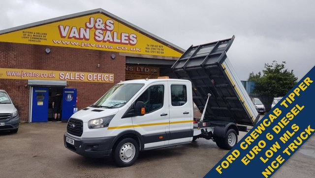 USED 2017 17 FORD TRANSIT CREWCAB TIPPER T350 TWIN WHEEL LOW MLS # EURO 6 # #### FORD CREWCAB TIPPER TRUCK EURO 6 ####