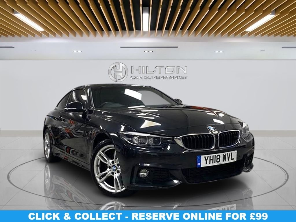 """USED 2018 18 BMW 4 SERIES 2.0 420D M SPORT 2d 188 BHP Navigation System, Leather Seats, 18"""" Alloy Wheels, Parking Sensor(s), Privacy Glass, Climate Control"""