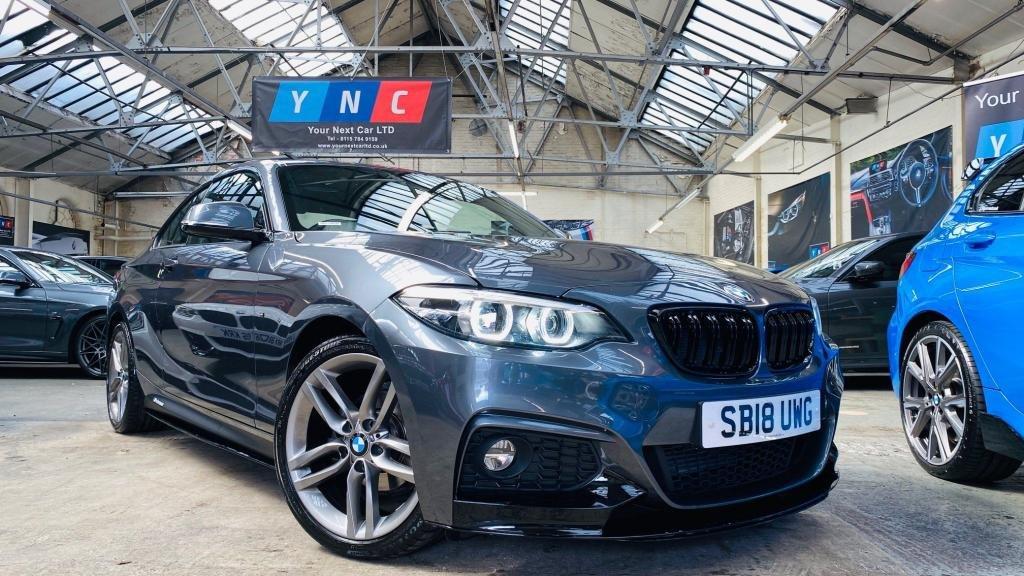 USED 2018 18 BMW 2 SERIES 2.0 218d M Sport Auto (s/s) 2dr PERFORMANCEKIT+FACELIFT+LTHR!