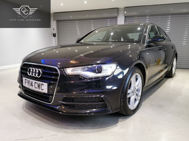 USED 2014 14 AUDI A6 2.0 TDI ULTRA S LINE 4d 188 BHP SATELLITE NAVIGATION + HEATED LEATHER UPHOLSTERY + £30 ROAD TAX