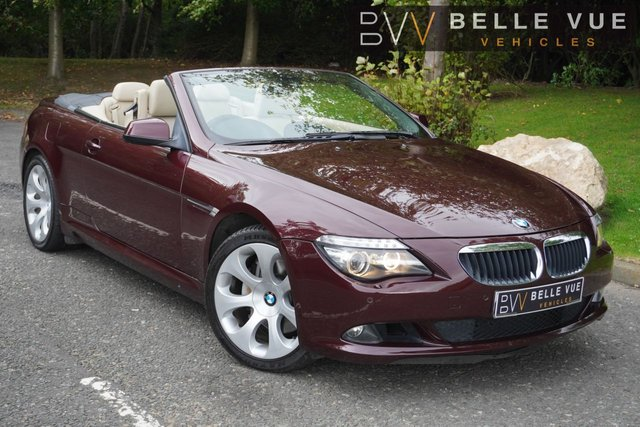 USED 2009 59 BMW 6 SERIES 3.0 635D SE 2d 282 BHP *CONVERTIBLE, SAT NAV, SPORTS PADDLE SHIFT*