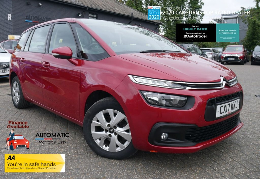 USED 2017 17 CITROEN C4 GRAND PICASSO 1.6 BLUEHDI TOUCH EDITION S/S 5d 98 BHP 2017 CITROEN C4 GRAND PICASSO, 2 KEYS, 1 OWNER FROM NEW, ULEZ FREE, BLUETOOTH, PARKING SENSORS, USB/AUX,