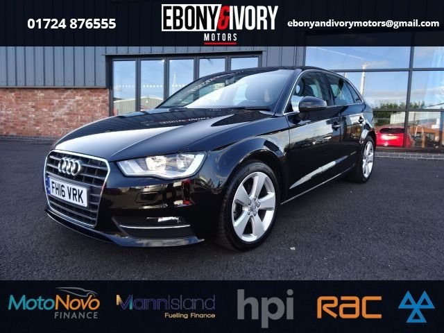 USED 2016 16 AUDI A3 1.6 TDI SPORT NAV 5d 109 BHP + FULL SERVICE HISTORY + 1 YEAR MOT AND BREAKDOWN COVER