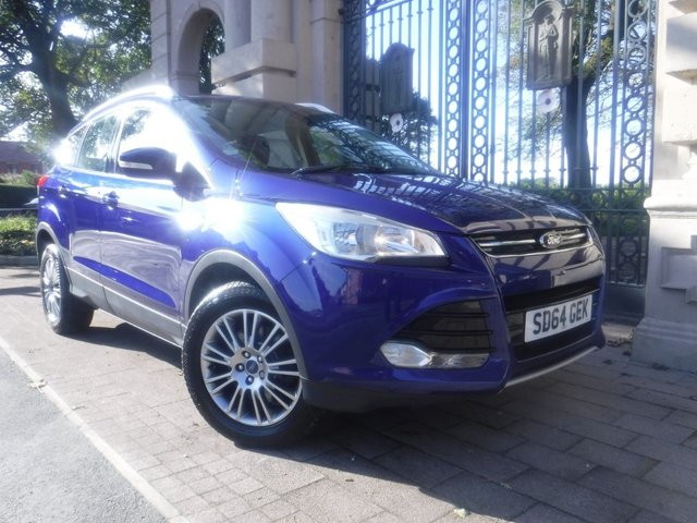 USED 2014 64 FORD KUGA 2.0 TITANIUM TDCI 2WD 5d 138 BHP PART LEATHER*CRUISE*REAR PS*FORD SERVICE HISTORY*BTOOTH