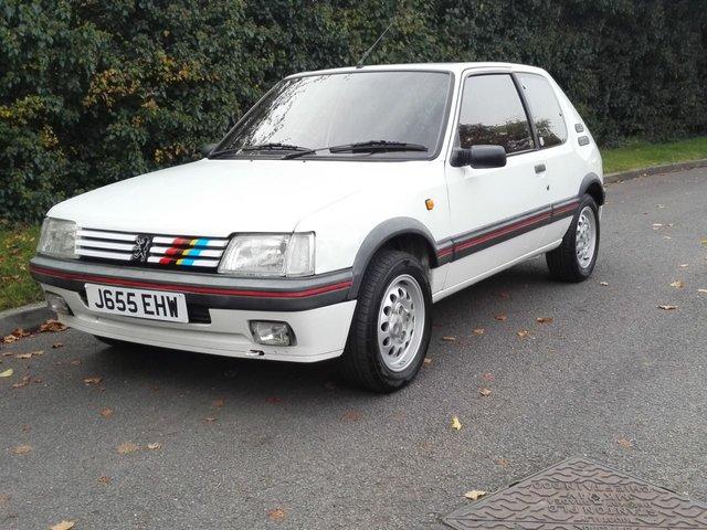 1991 J PEUGEOT 205 1.6 GTI 3d 105 BHP
