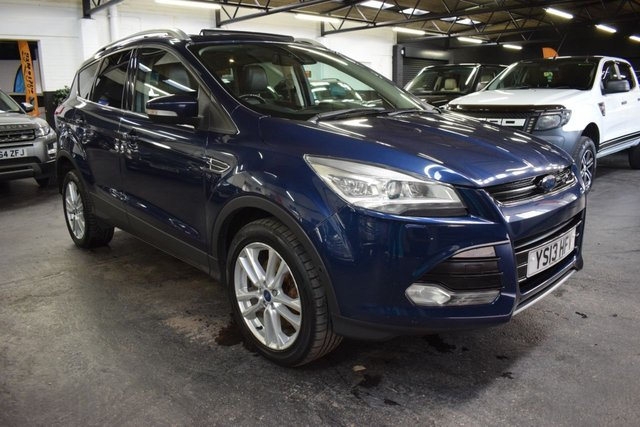 USED 2013 13 FORD KUGA 2.0 TITANIUM X TDCI 5d 160 BHP LOVELY CONDITION THROUGHOUT - TITANIUM X - PAN ROOF - POWER BOOT - FULL HEATED LEATHER - ELECTRIC DRIVERS SEAT