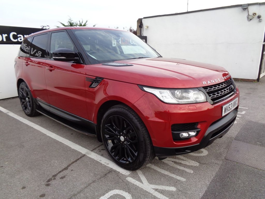 """USED 2014 63 LAND ROVER RANGE ROVER SPORT 3.0 SDV6 HSE DYNAMIC 5d 288 BHP 4x4 awd 4wd Full land rover service  history  satellite navigation  21"""" alloy wheels  climate control  leather trim  privacy glass  parking sensors"""