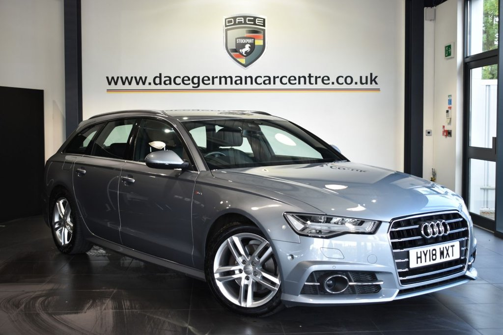 USED 2018 18 AUDI A6 AVANT 2.0 TDI ULTRA S LINE 5DR AUTO 188 BHP Finished in a stunning metallic silver styled with alloys. Upon opening the drivers door you are presented with full leather interior, full service history, satellite navigation, bluetooth, heated seats, dab radio, cruise control, multi functional steering wheel, drive select mode, heated mirrors, climate control, parking sensors
