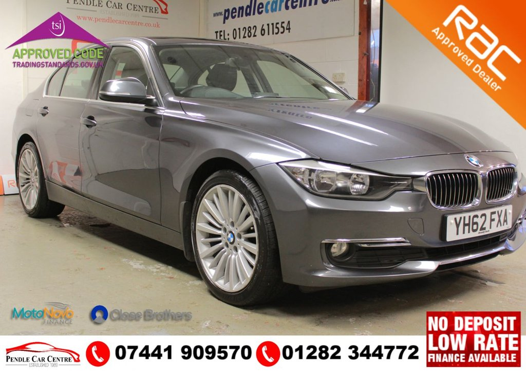 USED 2012 62 BMW 3 SERIES 2.0 318D LUXURY 4d 141 BHP RAC PLATINUM WARRANTY INCLUDED + LUXURY PACK UPGRADE + 2 KEYS