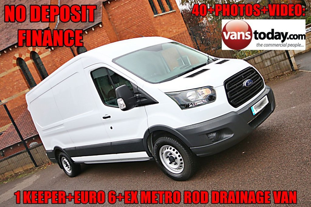 USED 2018 18 FORD TRANSIT 2.0 350 L3 H2 RWD 129 BHP + EURO 6 + HIGH PRESSURE RODDING VAN LOW MILEAGE HIGH PRESSURE RODDING VAN WITH WATER TANKS
