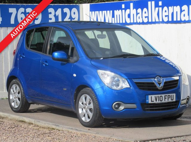 USED 2010 10 VAUXHALL AGILA 1.2 DESIGN 5d 85 BHP FSH X 10 STAMPS, AUTOMATIC