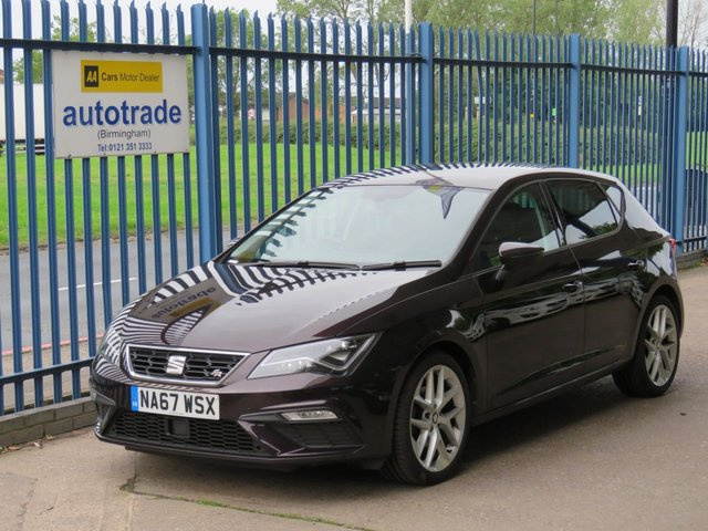 USED 2017 67 SEAT LEON 1.4 TSI FR TECHNOLOGY 5dr 125 Sat nav Bluetooth & audio Cruise DAB Privacy Apple/Android Car Play