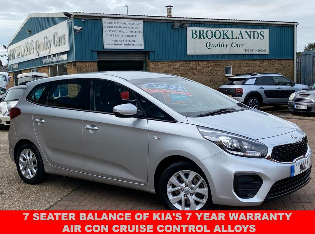 USED 2017 67 KIA CARENS 1.6 1 ISG 5 Door Bright Silver Met. ONLY 18947 miles 133 BHP 7 Seater Balance of Kia's 7 year warranty Air Con Cruise Control Alloys