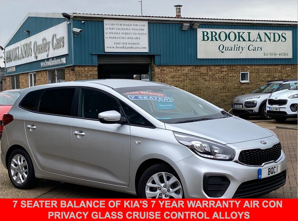USED 2017 67 KIA CARENS 1.6 1 ISG 5 Door Bright Silver Met. ONLY 18955 miles 133 BHP 7 Seater Balance of Kia's 7 year warranty Air Con Cruise Control Alloys