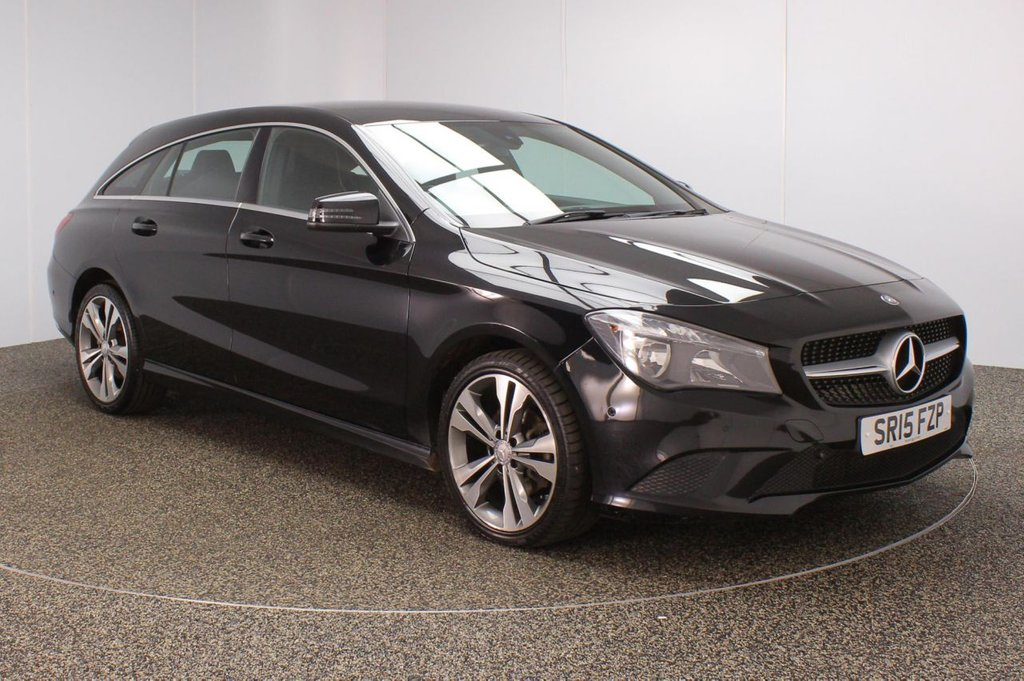 USED 2015 15 MERCEDES-BENZ CLA 1.6 CLA180 SPORT 5DR 121 BHP ESTATE SERVICE HISTORY + HALF LEATHER SEATS + PARKING SENSOR + BLUETOOTH + CRUISE CONTROL + CLIMATE CONTROL + MULTI FUNCTION WHEEL + ELECTRIC WINDOWS + ELECTRIC DOOR MIRRORS + 18 INCH ALLOY WHEELS