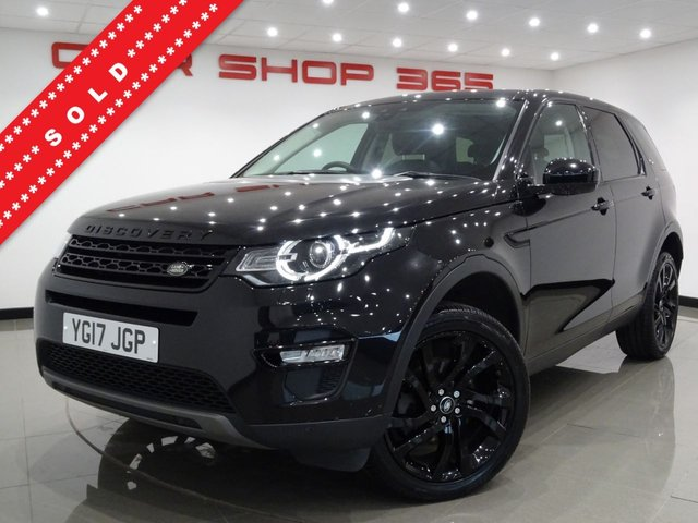 USED 2017 17 LAND ROVER DISCOVERY SPORT 2.0 TD4 (180 BHP) HSE BLACK AUTO 4WD..7 SEATS..NAV..PAN ROOF..E/HEATED LEATHERS..R/CAMERA..PARK AID..XENONS..PRIVACY..HIGH SPEC !! 4WD+PANROOF+20 S+XENON+CAM+LEATHR+NAV+CRUISE+7SEATS