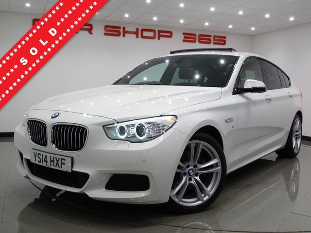 USED 2014 14 BMW 5 SERIES GRAN TURISMO 2.0 520D (184 BHP) M SPORT GT AUTO 5DR..NAV..PANORAMIC SUNROOF..HEATED LEATHERS..CRUISE..20 INCH ALLOYS..XENONS..PARK AID..PRIVACY..HIGH SPEC !! PAN ROOF+20 S+XENONS+PARK+TINTS+H-LEATHER+NAV+CRUISE
