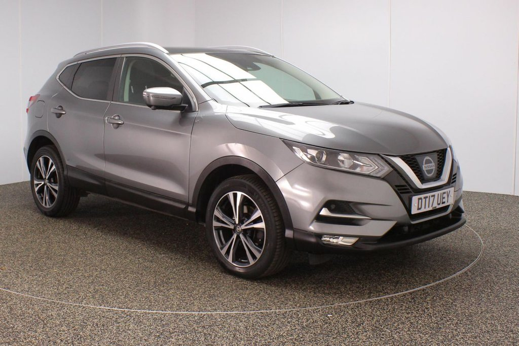 USED 2017 17 NISSAN QASHQAI 1.5 N-CONNECTA DCI 5DR 1 OWNER 108 BHP FULL SERVICE HISTORY + PANORAMIC ROOF + AROUND VIEW CAMERA + SATELLITE NAVIGATION + LANE ASSIST SYSTEM + REVERSE CAMERA + PARKING SENSOR + BLUETOOTH + CRUISE CONTROL + CLIMATE CONTROL + MULTI FUNCTION WHEEL + XENON HEADLIGHTS + PRIVACY GLASS + DAB RADIO + AUX/USB PORTS + ELECTRIC WINDOWS + ELECTRIC/HEATED/FOLDING DOOR MIRRORS + 18 INCH ALLOY WHEELS