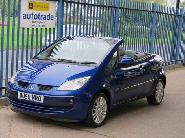 USED 2008 58 MITSUBISHI COLT 1.5 CZC2 2dr 108 Convertible Air con Alloys Fogs Part exchange available Open 7 days ULEZ Compliant