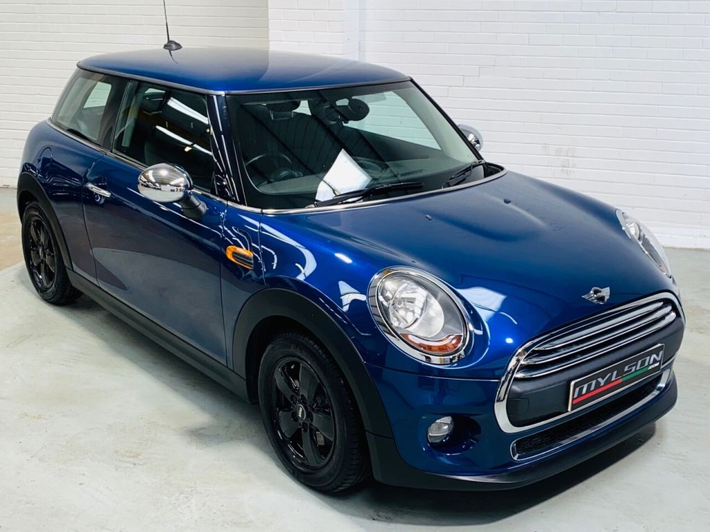 USED 2014 14 MINI HATCH ONE 1.2 ONE 3d 101 BHP Metallic Blue with Full Black Leather Interior, 1 Owner, Full MINI Service History