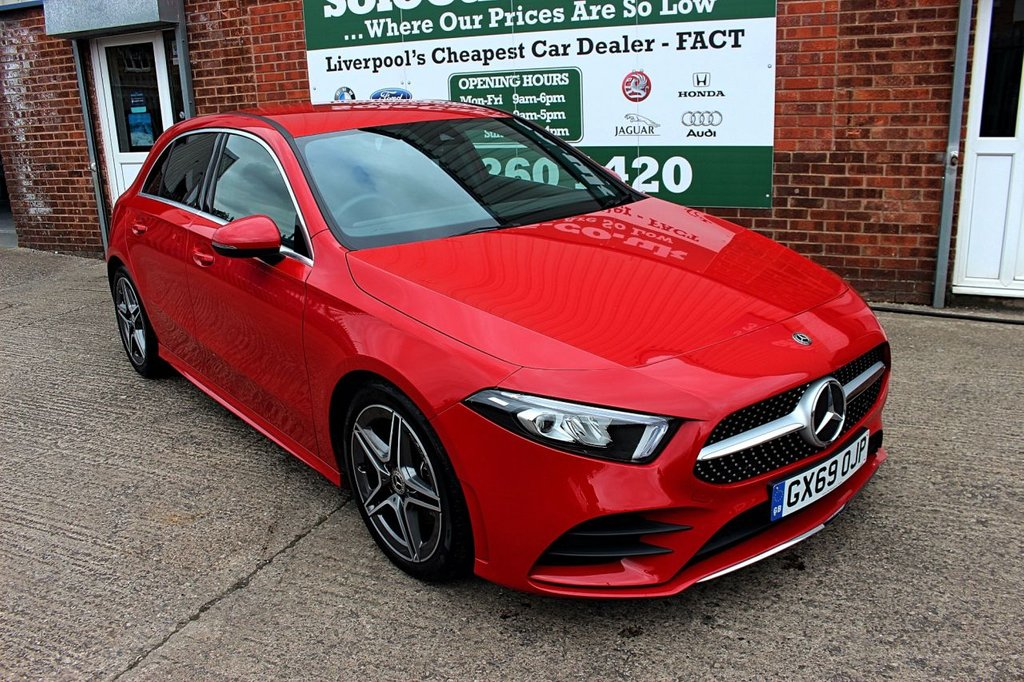 USED 2019 69 MERCEDES-BENZ A-CLASS 1.3 A 180 AMG LINE 5d 135 BHP +LOW MILES +LIKE NEW +AMG LINE