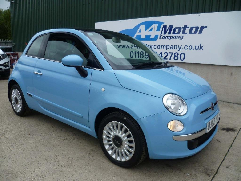 USED 2012 62 FIAT 500 1.2 Lounge (s/s) 3dr BABY BLUE, LOW TAX BAND!