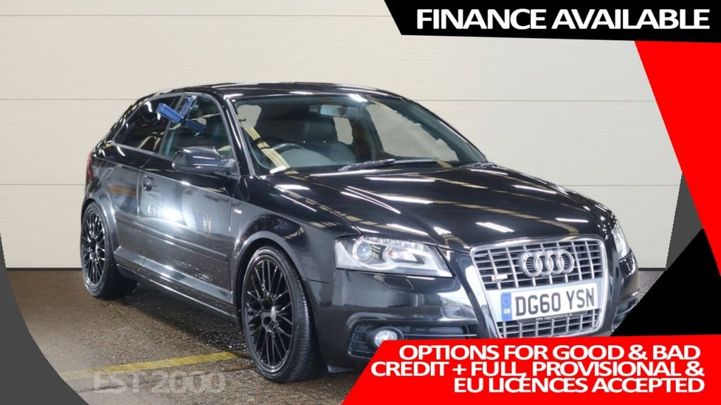 USED 2010 60 AUDI A3 2.0 TDI S LINE SPECIAL EDITION 3d 138 BHP * SAT NAV * HEATED LEATHER * 19 INCH ALLOY WHEELS *