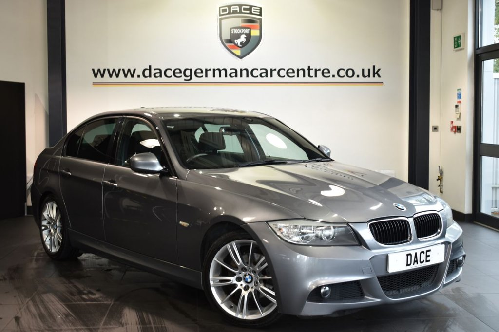 """USED 2011 11 BMW 3 SERIES 2.0 320I M SPORT 4DR 168 BHP Finished in a stunning space metallic grey styled with 18"""" alloys. Upon opening the drivers door you are presented with cloth upholstery, full service history, bluetooth, cruise control, sport seats, light package, Automatic air conditioning, rain sensors, Light package, electric folding mirrors, parking sensors"""