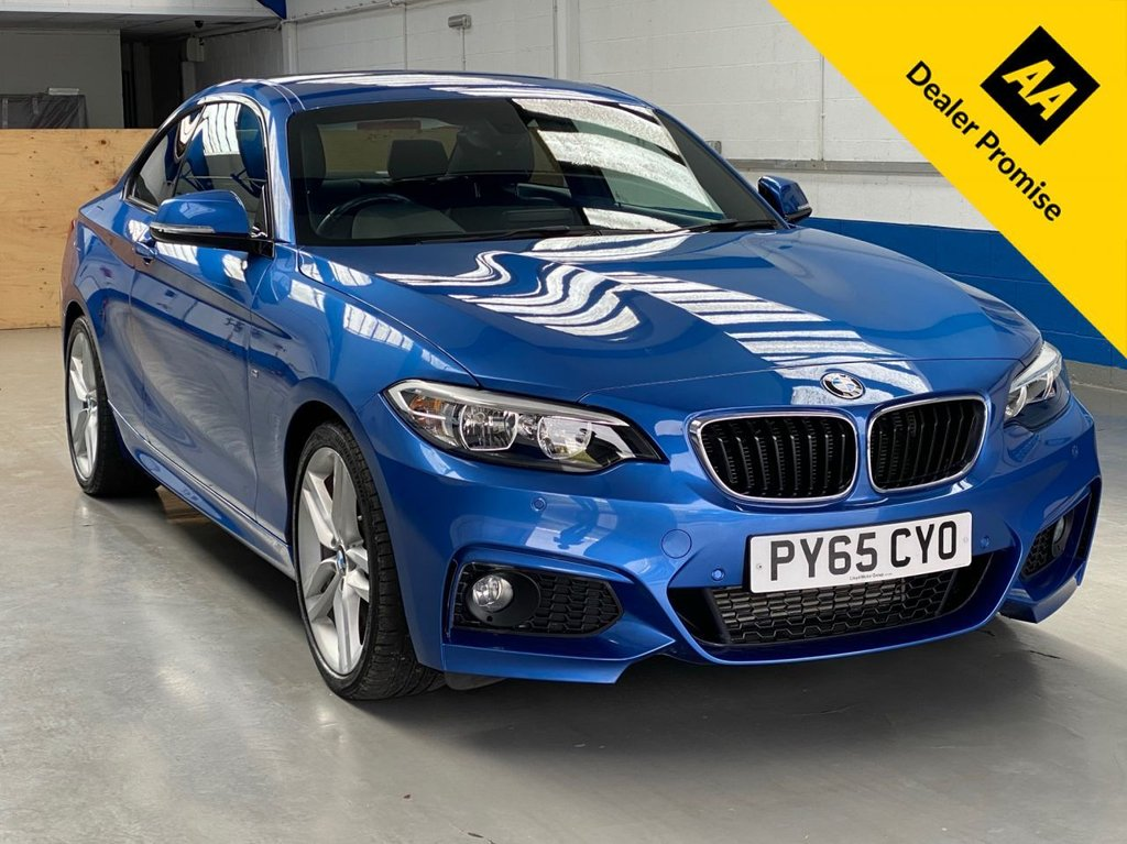 USED 2015 65 BMW 2 SERIES 2.0 220D M SPORT 2d 188 BHP *FULL SERVICE HISTORY-LEATHER*