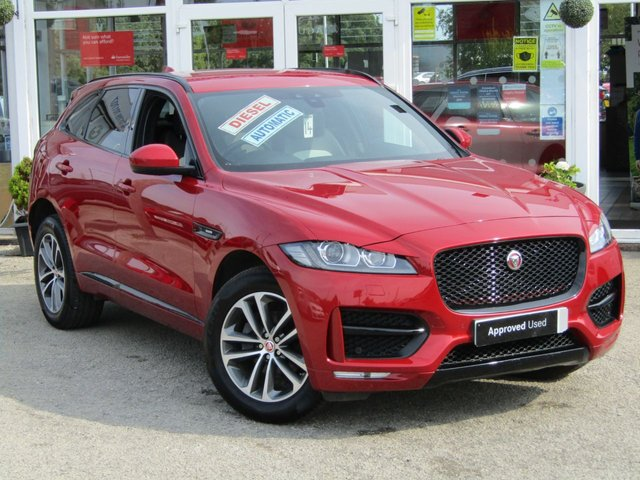 USED 2016 16 JAGUAR F-PACE 2.0 R-SPORT AWD 5d 178 BHP Finished in ITALIAN RACING RED with contrasting TWO TONE FULL LEATHER TRIM. The Jaguar F-Pace is a large, stylish family car and one of the few SUVs on sale that is genuinely good fun to drive. It has a host of features that include Sat Nav, Two Tone Leather, DAB Radio, Power rear Boot, Rear View Camera and much more. Sturgess Jaguar, Leicester Dealer serviced at 5 miles, 28919 miles and just serviced on arrival at EMC. Also comes with 12 months MOT.