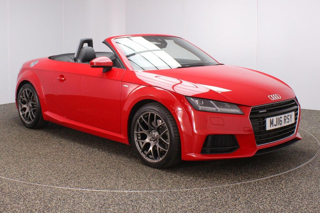 USED 2016 16 AUDI TT 2.0 TFSI QUATTRO S LINE 2DR AUTO 227 BHP FULL AUDI SERVICE HISTORY + HALF LEATHER SEATS + AUDI VIRTUAL COCKPIT + BLUETOOTH + AIR CONDITIONING + MULTI FUNCTION WHEEL + XENON HEADLIGHTS + LANE ASSIST SYSTEM + DAB RADIO + AUX/USB/SD PORTS + ELECTRIC WINDOWS + ELECTRIC/HEATED DOOR MIRRORS + 18 INCH ALLOY WHEELS