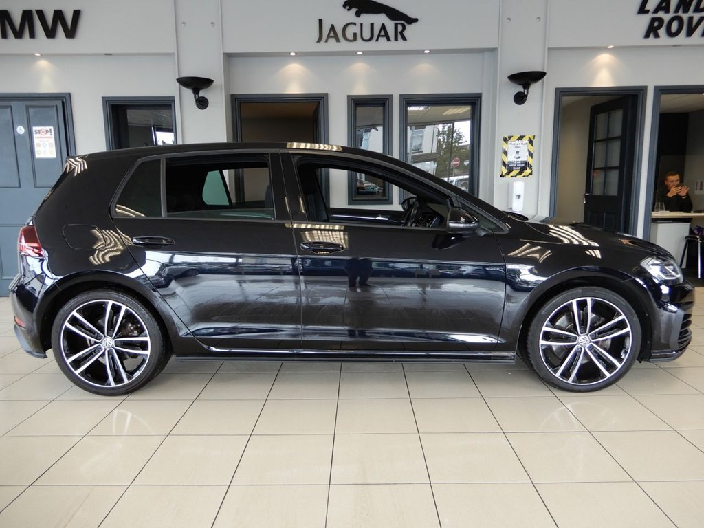 USED 2017 17 VOLKSWAGEN GOLF 2.0 GTD TDI 5d 182 BHP FINISHED IN STUNNING METALLIC BLACK COMPLIMENTED BY STYLISH GTD CHECKER HEATED SEATS + 1 OWNER FROM NEW WITH A FULL VOLKSWAGEN MAIN DEALER SERVICE HISTORY + VIRTUAL COCKPIT DIGITAL DASH DISPLAY WITH SATELLITE NAVIGATION + PARKING SENSORS + AUX/USB CONNECTION + CRUISE CONTROL + BLUETOOTH MEDIA WITH APPLE CARPLAY-ANDROID AUTO-MIRROR LINK + DUAL ZONE AIR CONDITIONING WITH DIGITAL CLIMATE CONTROL + AUTOMATIC ADAPTIVE HEADLIGHTS + AUTOMATIC WIPERS + CRUISE CONTROL + DIAMOND CUT ALLOY WHEELS + ULEZ CO