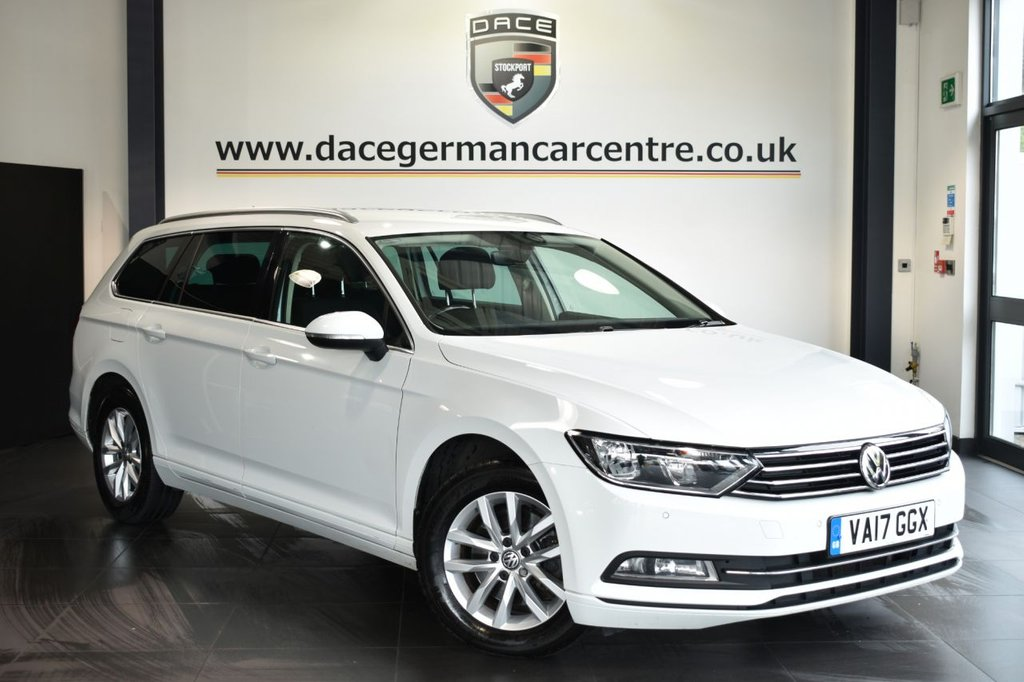 USED 2017 17 VOLKSWAGEN PASSAT 1.6 SE BUSINESS TDI BLUEMOTION TECHNOLOGY 5DR 119 BHP Finished in a stunning white styled with alloys. Upon opening the drivers door you are presented with cloth upholstery, full service history, satellite navigation, bluetooth, cruise control, dab radio, multi functional steering wheel, heated mirrors, parking sensors