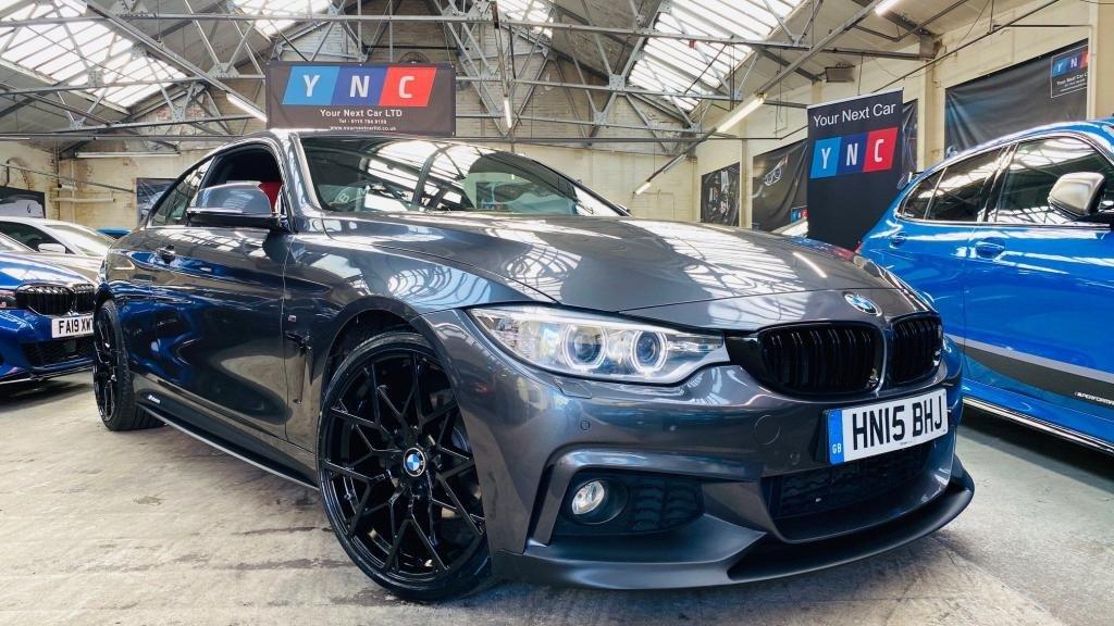 USED 2015 15 BMW 4 SERIES 2.0 420d M Sport 2dr PERFORMANCEKIT+20S+REDLTHR!