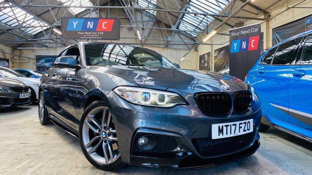 USED 2017 17 BMW 2 SERIES 2.0 220d M Sport (s/s) 2dr PERFORMANCEKIT+XENONS+18S