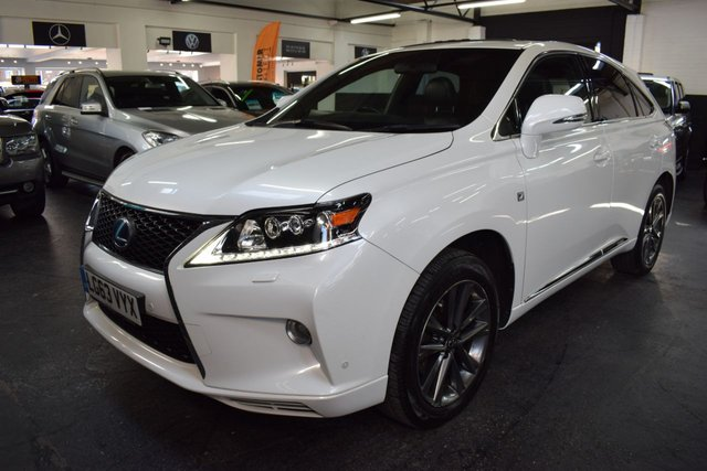 USED 2013 63 LEXUS RX 3.5 450H F SPORT 5d 295 BHP HYBRID STUNNING CONDITION - 1 OWNER FROM NEW - F SPORT - 6 LEXUS STAMPS TO 55K - ULEZ COMPLIANT - LEATHER - SUNROOF