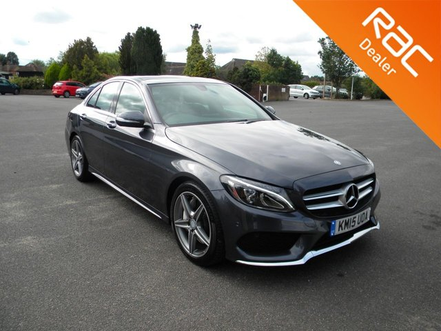 USED 2015 15 MERCEDES-BENZ C-CLASS 2.1 C250 BLUETEC AMG LINE PREMIUM 4d 204 BHP BY APPOINTMENT ONLY - Great Colour, Full Leather Heated Seats,  Alloy Wheels, Bluetooth, DAB, Cruise Control, Reversing Camera, Sat Nav