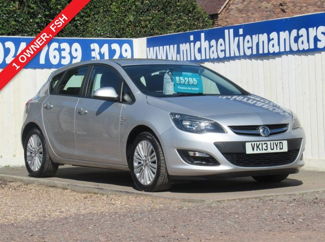 USED 2013 13 VAUXHALL ASTRA 1.7 ENERGY CDTI 5d 108 BHP LOVELY CAR THROUGHOUT