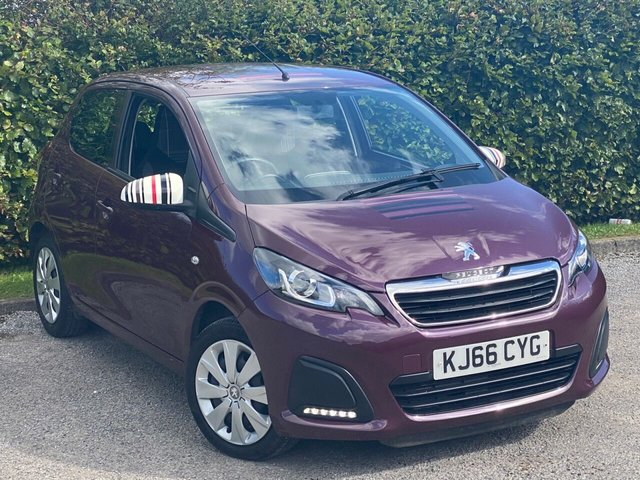 USED 2017 66 PEUGEOT 108 1.0 ACTIVE 5d 68 BHP TOUCH SCREEN MEDIA, BLUETOOTH