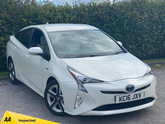 USED 2016 16 TOYOTA PRIUS 1.8 VVT-I EXCEL 5d FULL HEATED TWO TONE LEATHER INTERIOR