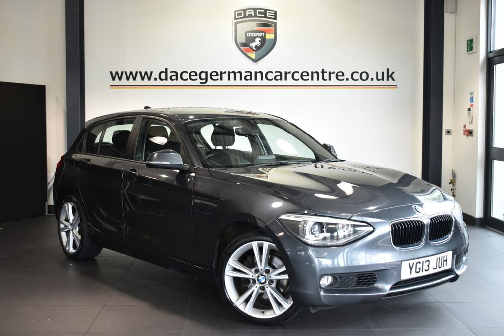 USED 2013 13 BMW 1 SERIES 2.0 120D SE 5DR 181 BHP Finished in a stunning mineral metallic grey styled with alloys. Upon opening the drivers door you are presented with anthracite upholstery, full service history, bluetooth, cruise control, dab radio, Xenon Lights, Adaptive Headlights, Automatic air conditioning, Light package, High-beam assistant, parking sensors
