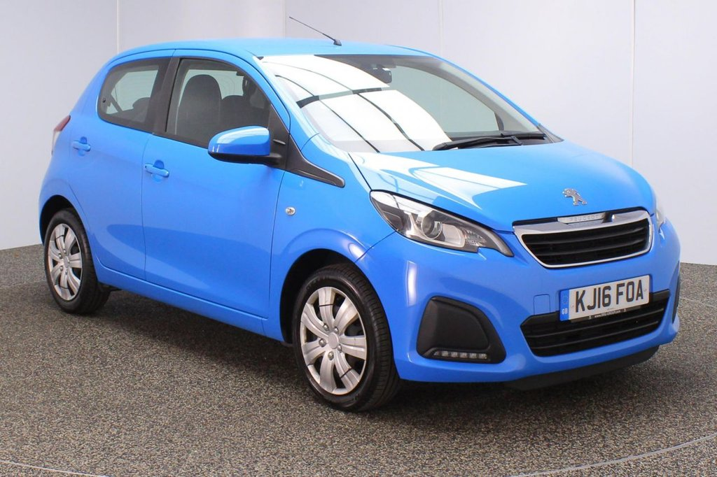 USED 2016 16 PEUGEOT 108 1.0 ACTIVE 5DR 68 BHP FULL SERVICE HISTORY + FREE 12 MONTHS ROAD TAX + BLUETOOTH + CRUISE CONTROL + AIR CONDITIONING + MULTI FUNCTION WHEEL + DAB RADIO + AUX/USB PORTS + ELECTRIC WINDOWS