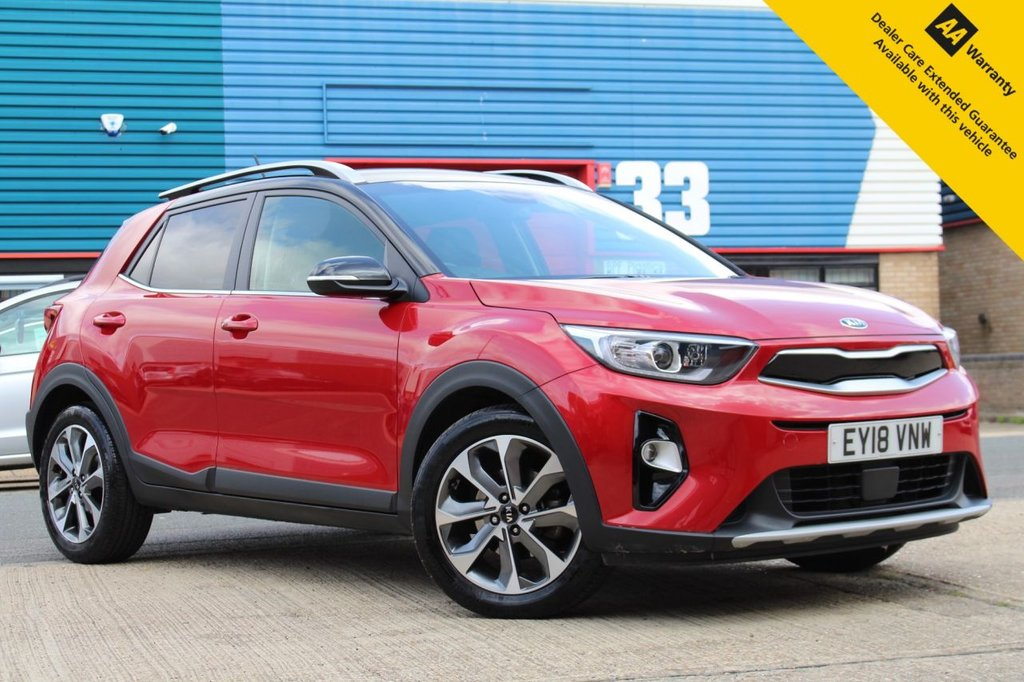 USED 2018 18 KIA STONIC 1.0 FIRST EDITION 5d 118 BHP ** 1 OWNER ** FULL KIA SERVICE HISTORY ** MANUFACTURE WARRANTY UNTIL 2025 ** SAT NAV ** REAR PARKING CAMERA ** LANE ASSIST ** BLIND SPOT MONITOR SYSTEM ** CRUISE CONTROL ** BLUETOOTH ** HEATED SEATS + STEERING WHEEL ** KEYLESS ENTRY + START ** ULEZ EXEMPT ** LOW RATE £0 DEPOSIT FINANCE AVAILABLE **
